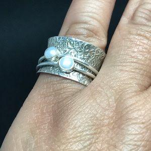 NWOT Sterling Silver hammered designed ring